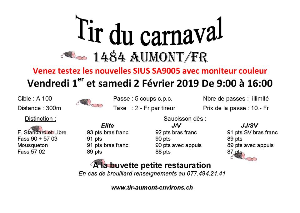 Tir de Carnaval à Aumont